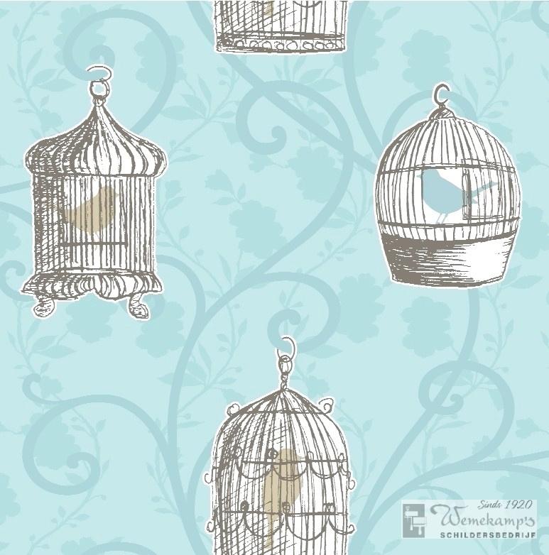 Arthouse Options Skylark 417403 vogelkooitjes behang