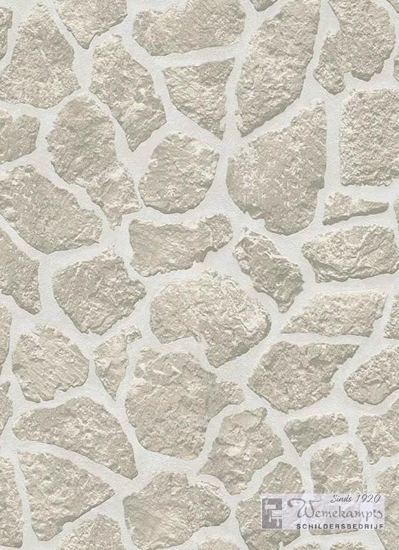 Noordwand 6824-10 steen motief behang