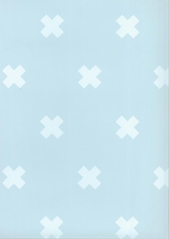 Fabs world 67104-4 behang met kruisjes