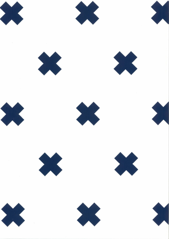 Fabs world 67104-5 behang met kruisjes