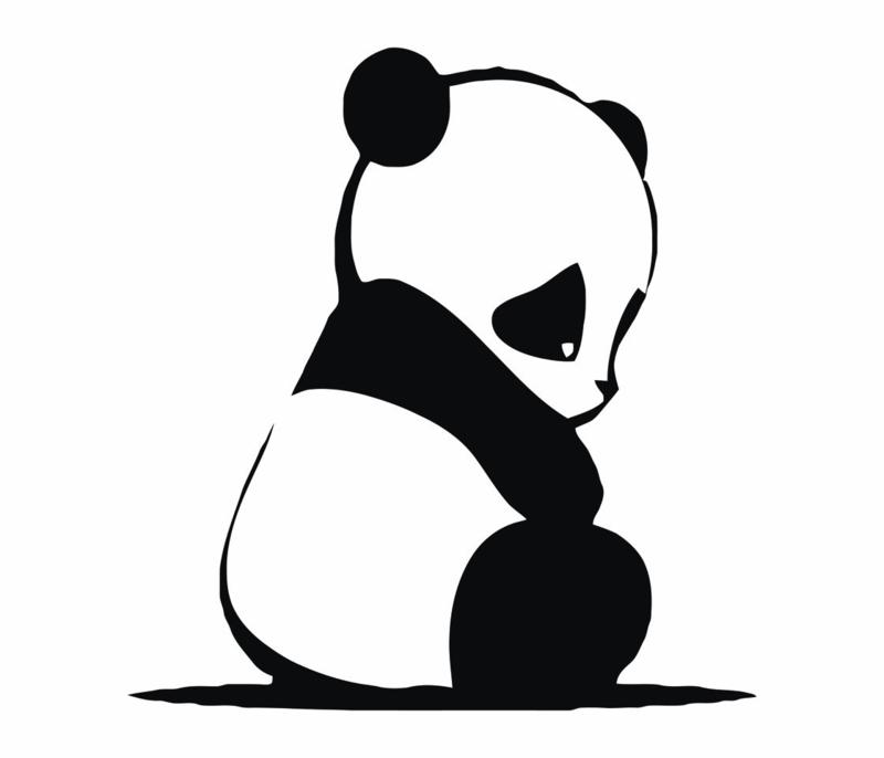 Fabs world 8001 A-B baby panda poster behang