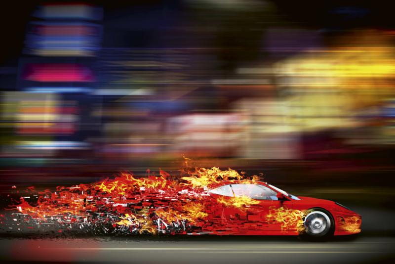 @Walls fotobehang raceauto 0309