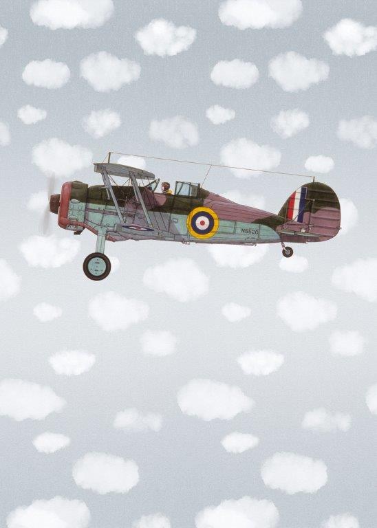 Behang Expresse Kate & Andy INK7444 groot vliegtuig