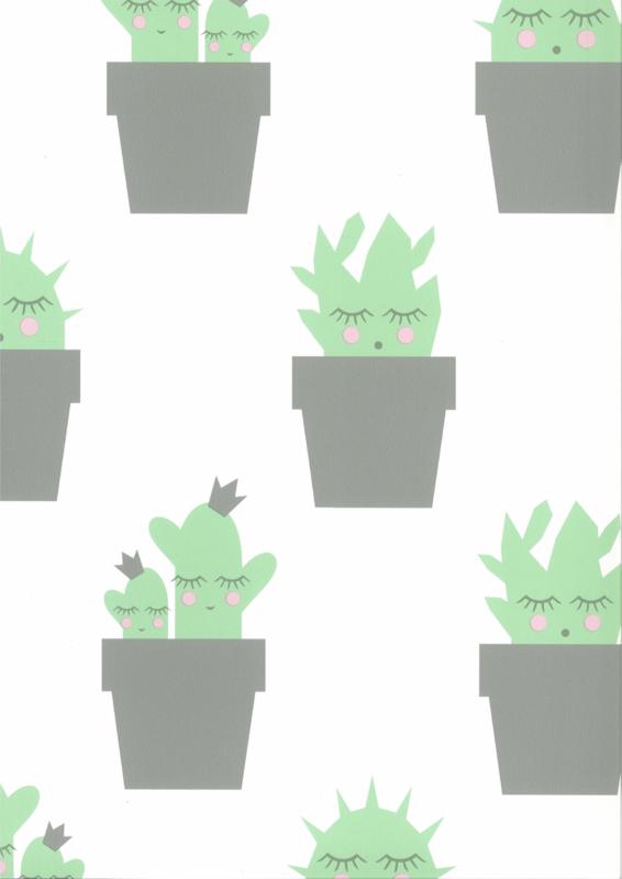 Fabs world 67102-2 behang met cactus