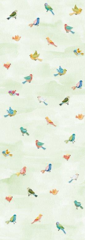 Behang Expresse Kate & Andy INK7428 leuke vogels (groen)