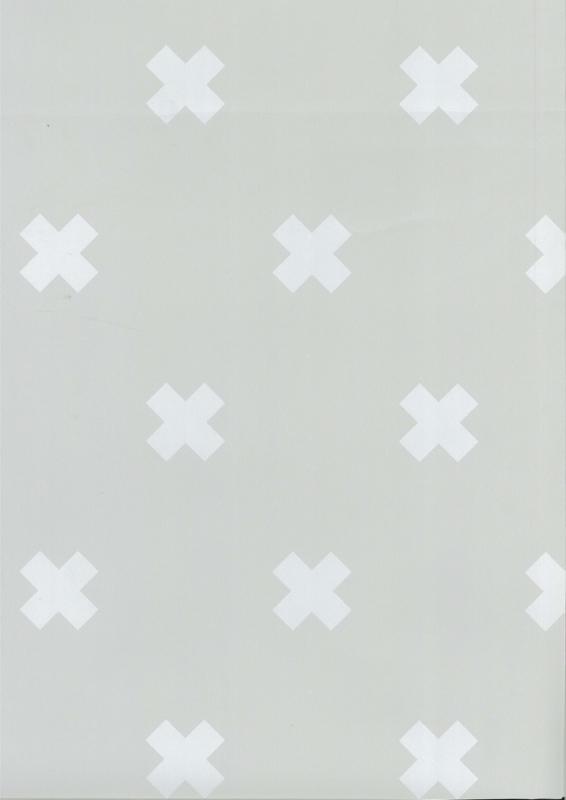 Fabs world 67104-1 behang met kruisjes