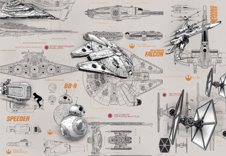 Star Wars Blueprints 8-493 Komar