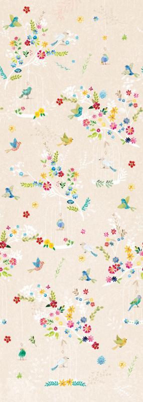 Behang Expresse Kate & Andy INK7482 vogels in kooi