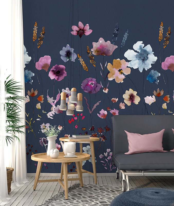 Colorful Florals & Retro INK7285 Meadow Love Blue