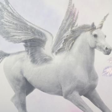 Unicorn eenhoorn behang