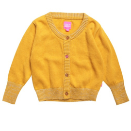cardigan: Gold knit
