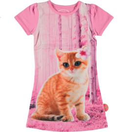 jurk: Pink cat