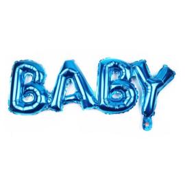 ballon: BABY blauw