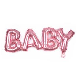 ballon: BABY roze