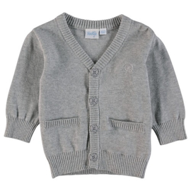 cardigan: Classic knitted grey