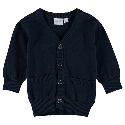 cardigan: Classic knitted navy