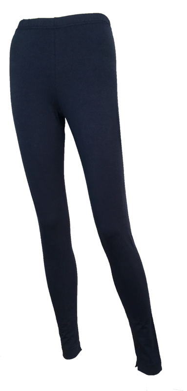 T-pants Smooth Fit with Ankle Split Detail black