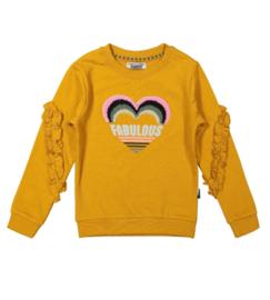 DJ Dutchjeans sweater oker print