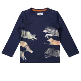 Koko Noko t-shirt lange mouwen navy wolf