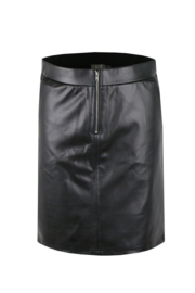 C&S leatherlook Rok zwart