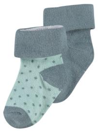 Noppies sokken grey mint/Dark grey dot