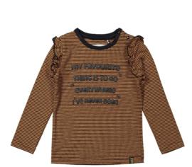 Koko Noko shirt stripe Camel