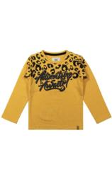 Koko Noko shirt lange mouw yellow print
