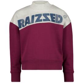 Raizzed sweater Madras Bordeaux red