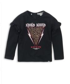 Koko Noko shirt black print