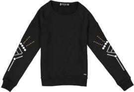 Crush Denim sweater Scarlet zwart