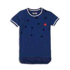 DJ Dutchjeans t-shirt blauw ster
