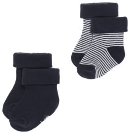 Noppies B Socks 2 pack Guzzi Navy