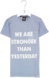 Crush Denim Stronger Tee Blue Indigo