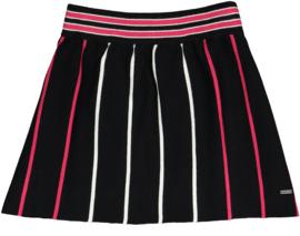 Crush Denim knit rokje Fenna black/roze