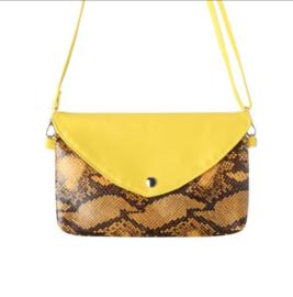 Snake schoudertasje yellow