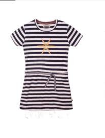 DJ Dutchjeans jurk stripe  navy