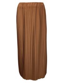 Elvira Skirt Silke brons plissé