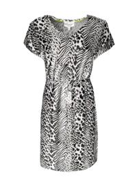 Elvira dress Emmy jungle black-White