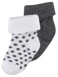 Noppies sokken dot White/grey melange