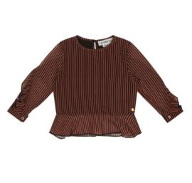 Koko Noko blouse stripe Camel