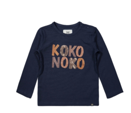 Koko Noko shirt lange mouw navy