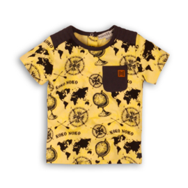 Koko Noko t-shirt yellow aop black
