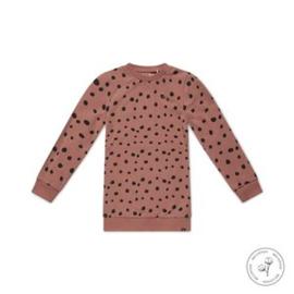Koko Noko jurk Nathalie dusty pink stip