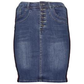 Per Tutti jeans rok met bies