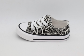 Rock & Joy sneakers panter wit zwart