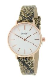 Ernest horloge Rosé Cindy medium  Python beige