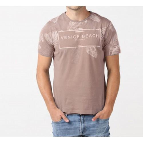 Heren t-shirt Narton bruin
