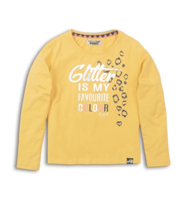 DJ Dutchjeans shirt geel glitter