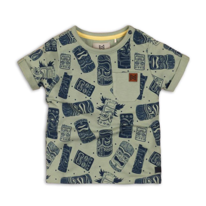 Koko Noko t-shirt print groen navy