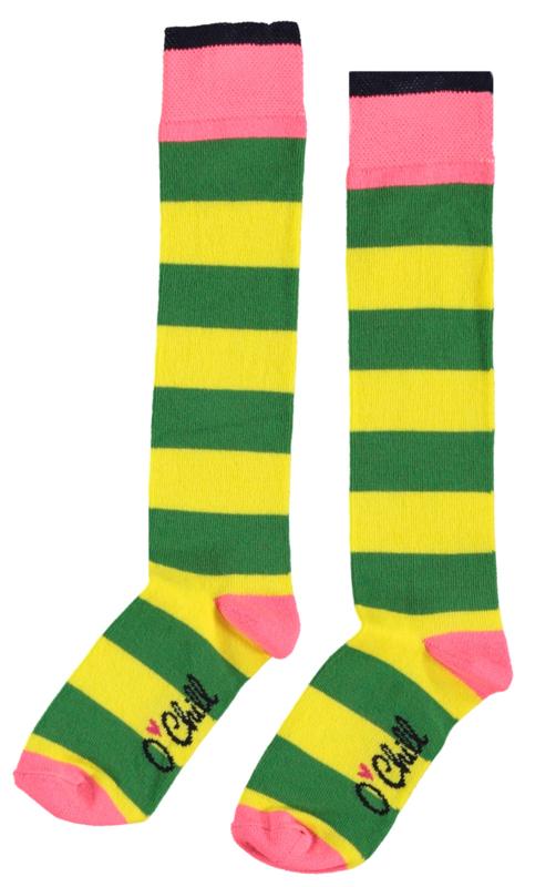 Ochill sokken (hoog) geel/groen